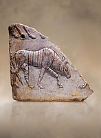 Phrygian relief fragment depicting a walking animal. 8th-7th century BC . Çorum Archaeological Museum, Corum, Turkey