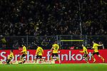 17.12.2017, Signal Iduna Park, Dortmund, GER, 1.FBL, Borussia Dortmund vs TSG 1899 Hoffenheim, <br /> <br /> im Bild | picture shows<br /> Kurz vor Schluss schie&szlig;t Christian Pulisic (Borussia Dortmund #22) das 2:1 und jubelt vor der S&uuml;dtrib&uuml;ne, <br /> <br /> Foto &copy; nordphoto / Rauch