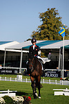 Stamford, Lincolnshire, United Kingdom, 5th September 2019, Ros Canter during the Dressage Phase on Day 1 of the 2019 Land Rover Burghley Horse Trials, Credit: Jonathan Clarke/JPC Images