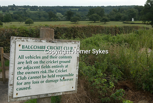 Balcombe West Sussex UK. Balcombe cricket club ground.