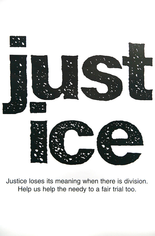 Poster promoting Legal aid