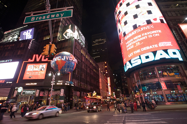 Times Square by night, NYC, USA