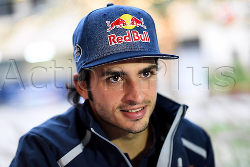 01.04.2016. Bahrain. FIA Formula One World Championship 2016, Grand Prix of Bahrain, Practise day.  Carlos Sainz jun, Scuderia Toro Rosso, formula 1 GP at the press conference