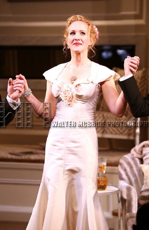 Katie Finneran during the re-opening night Curtain Call for 'It's Only A Play' at the Bernard B. Jacobs Theatre on January 23, 2014 in New York City.