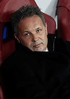 Calcio, quarti di finale di Coppa Italia: Alessandria vs Milan. Torino, stadio Olimpico, 26 gennaio 2016.<br /> AC Milan's coach Sinisa Mihajlovic waits for the start of the Italian Cup semifinal first leg football match between Alessandria and AC Milan at Turin's Olympic stadium, 26 January 2016.<br /> UPDATE IMAGES PRESS/Isabella Bonotto