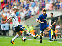 Chelsea's Marcos Alonso during the Premier League match between Tottenham Hotspur and Chelsea at Wembley Stadium, London, England on 20 August 2017. Photo by Andrew Aleksiejczuk / PRiME Media Images.