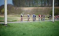 some riders, Fumi Beppu (JAP/Trek Factory Racing) up front, trying to break away from the peloton<br /> <br /> 55th Brabantse Pijl 2015