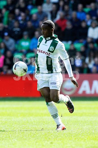 GRONINGEN - Voetbal, FC Groningen - SC Cambuur, Eredivisie, Euroborg, seizoen 2014-2015, 12-04-2015,  FC Groningen speler Lorenzo Burnet