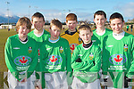 WAITING ON THE CALL: The Kingdom Boys subs waiting on the call at Cahermoneen on Saturday l-r: Dylan O'Shea, Kevin Dolan, Shane Healy, Derek Horgan, Darragh Costello, Joe O'Callaghan and Cathal Lehane.