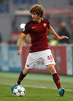 Calcio, Champions League: Gruppo E - Roma vs Bate Borisov. Roma, stadio Olimpico, 9 dicembre 2015.<br /> Roma's Salih Ucan in action during the Champions League Group E football match between Roma and Bate Borisov at Rome's Olympic stadium, 9 December 2015.<br /> UPDATE IMAGES PRESS/Riccardo De Luca