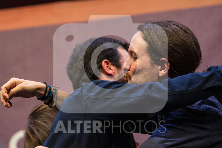 Spanish politician Alberto Garzon and Pablo Iglesias during the closing of the electoral campaign of Unidos Podemos. 24,06,2016. (ALTERPHOTOS/Rodrigo Jimenez)