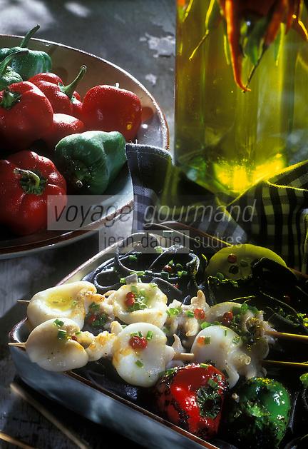 Cuisine/Gastronomie Generale: Seiches marinées et grillées au barbecue