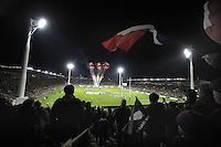 A general view from the stand during the international rugby match between the New Zealand All Blacks and France at Yarrow Stadium, New Plymouth, New Zealand on Saturday, 21 June 2013. Photo: Dave Lintott / lintottphoto.co.nz