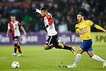 Nederland, Rotterdam, 1 december  2012.Eredivisie.Seizoen 2012-2013.Feyenoord-RKC Waalwijk.Tonny Vilhena van Feyenoord in duel om de bal met Imad Najah van RKC.