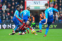 Adam Smith of AFC Bournemouth appeals for a foul during AFC Bournemouth vs Arsenal, Premier League Football at the Vitality Stadium on 14th January 2018