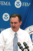 Washington, DC, Sept. 21, 2005 -- Acting Director of the Federal Emergency Management Agency (FEMA), R. David Paulison, talks to the press about FEMA's preparations for hurricane Rita as it enters the Gulf of Mexico from the Florida Straits in Washington, DC on September 21, 2005.  <br /> Credit: Bill Koplitz - FEMA via CNP