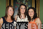 Orla O'Sullivan, Emma Sherwood and Doreen O'Connor Firies who danced the night away at the Firies GAA social in the Dromhall Hotel Killarney on Friday night