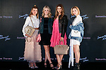 (L to R) Sofia Richie, Lottie Moss, Kenya Kinski Jones and Sarah Snyder pose for cameras during the Samantha Millennial Stars promotional event on April 27, 2017, Tokyo, Japan. The Japanese fashion and accessories brand is launching a new television commercial directed by Terry Richardson that features the five millennial models. (Photo by Rodrigo Reyes Marin/AFLO)