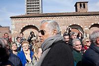 Milano: Teo Teocoli partecipa ai funerali di Enzo Jannacci in Sant Ambrogio