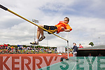 Dillon O'Sullivan, Killarney South in the Boys u-16 High Jump at the Kerry community games athlethics finals at an Riocht, Castleisland on Sunday.
