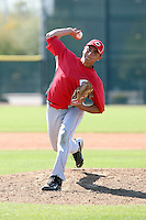 Raul Rodriguez, Cincinnati Reds 2010 minor league spring training..Photo by:  Bill Mitchell/Four Seam Images.
