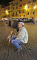 Photo ambulante in Campo dei fiori a Roma 20 marzo 2017. © Leonardo Cendamo