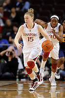 LOS ANGELES, CA - MARCH 13:  Lindsay La Rocque during Stanford's 64-44 win over California in the Pac-10 Tournament at the Staples Center on March 13, 2010 in Los Angeles, California.