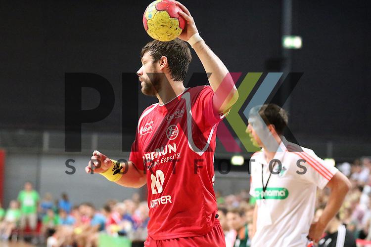 Bremen, 09.08.15, Sport, Handball, Erima-Cup 2015, MT Melsungen-TSV Hannover-Burgdorf : Momir Rnic (MT Melsungen, #20)<br /> <br /> Foto &copy; P-I-X.org *** Foto ist honorarpflichtig! *** Auf Anfrage in hoeherer Qualitaet/Aufloesung. Belegexemplar erbeten. Veroeffentlichung ausschliesslich fuer journalistisch-publizistische Zwecke. For editorial use only.