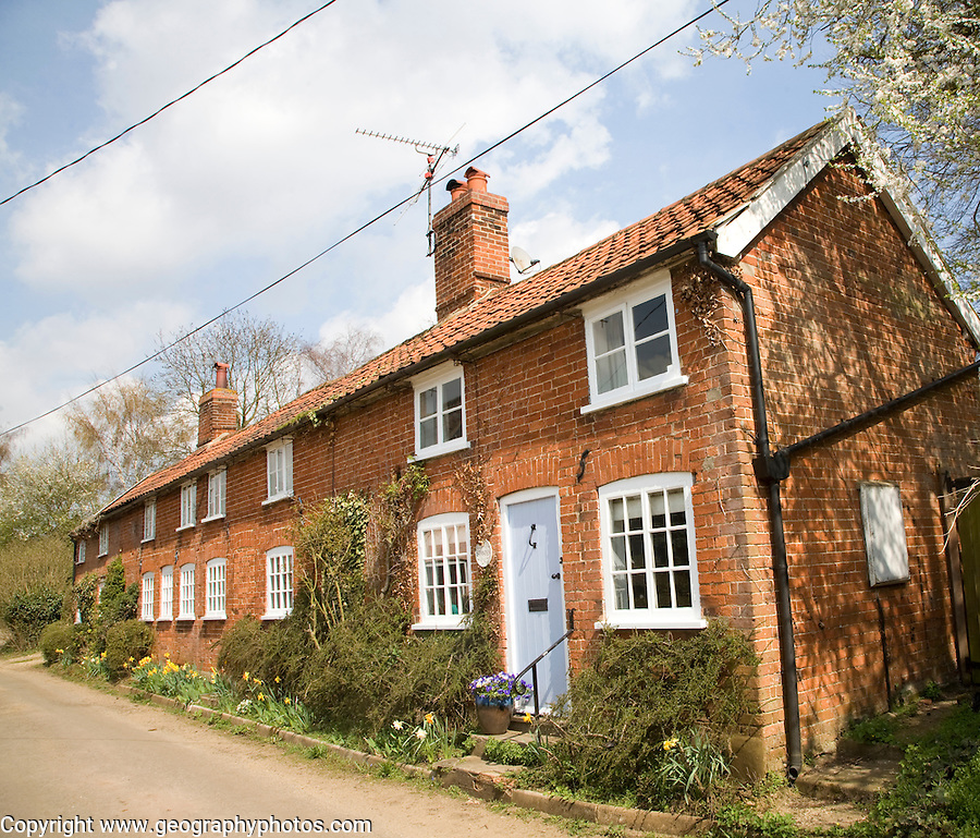Former row of terraced houses converted to one home, Shottisham, Suffolk