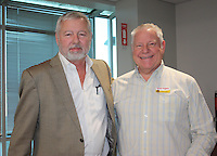 NWA Democrat-Gazette/CARIN SCHOPPMEYER Tom Jenson (left) and Randy Mullikan visit at the CCOA.