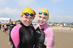 Kate Monaghan and Sarah Quinn<br /> at the round the head swim in clogherhead.<br /> Picture:  www.newsfile.ie