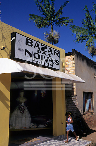Altamira, Brazil. Bazar das Noivas wedding dress shop. Para State.