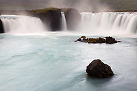 Skjálfandafljót River falls over Goðafoss waterfall, Northeast Iceland, Iceland