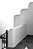 cycladic balcony with sea view