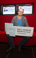 ***NO FEE PIC *** 05/06/2014 (L to R) Jury Member Lenny Abrahamson – Award-winning director of Frank, Adam and Paul, Garage and What Richard Did during the launch of the ICCL (Irish Council for Civil Liberties) Human Rights Film Awards Shortlist at the IFCO in Smith field, Dublin. Photo: Gareth Chaney Collins