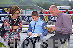 Marcella Mulvihill, Daragh Mulvihill, Ciaran Mulvihill from Listowel enjoying the Listowel Races on Sunday