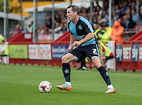 Garry Thompson of Wycombe Wanderers during the Sky Bet League 2 match between Crawley Town and Wycombe Wanderers at Checkatrade.com Stadium, Crawley, England on 29 August 2015. Photo by Liam McAvoy.