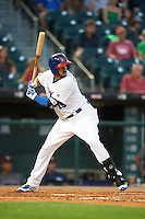 Buffalo Bisons left fielder Chris Colabello (15) at bat during a game against the Lehigh Valley IronPigs on August 29, 2016 at Coca-Cola Field in Buffalo, New York.  Buffalo defeated Lehigh Valley 3-2.  (Mike Janes/Four Seam Images)