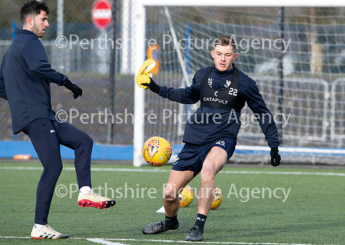 St Johnstone Training…05.02.19<br />Callum Hendry and Sean Goss pictured during training this morning at McDiarmid Park ahead of tomorrow's game at Hamilton<br />Picture by Graeme Hart.<br />Copyright Perthshire Picture Agency<br />Tel: 01738 623350  Mobile: 07990 594431
