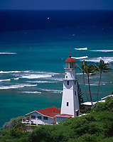 Diamond Head Lighthouse, Oahu, Hawaii, USA.