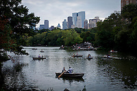 Residents and tourist are seen enjoy the lake in Central Park in New York City August 2010. New York is a slow growing state with a large rate of domestic migration to other states. In 2005, more people moved from New York to Florida than from any one state to another. However, New York state is one of the leading destinations for international immigration and thus has the second largest immigrant population in the country (after California). Although Upstate New York receives considerable immigration, most of the state's immigrants settle in and around New York City, due to its more vibrant economy and cosmopolitan culture.VIEWPRESS/ ZZ