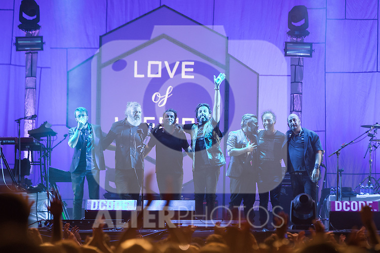 Spanish music Love of Lesbian at Dcode music festival in Madrid. September 10, 2016. (ALTERPHOTOS/Rodrigo Jimenez)