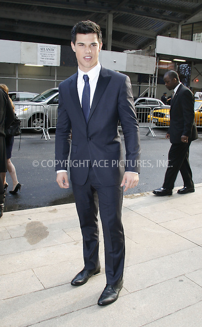 WWW.ACEPIXS.COM . . . . .  ....June 15 2009, New York City....Actor Taylor Lautner arriving at the CFDA awards on June 15 2009 in New York City....Please byline: NANCY RIVERA- ACE PICTURES.... *** ***..Ace Pictures, Inc:  ..tel: (212) 243 8787 or (646) 769 0430..e-mail: info@acepixs.com..web: http://www.acepixs.com