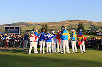 The European Team winners of the Solheim Cup 2019 at Gleneagles Golf CLub, Auchterarder, Perthshire, Scotland. 15/09/2019.<br /> Picture Thos Caffrey / Golffile.ie<br /> <br /> All photo usage must carry mandatory copyright credit (© Golffile | Thos Caffrey)
