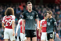 Burnley's Kevin Long cuts a dejected figure<br /> <br /> Photographer David Shipman/CameraSport<br /> <br /> The Premier League - Arsenal v Burnley - Saturday 22nd December 2018 - The Emirates - London<br /> <br /> World Copyright © 2018 CameraSport. All rights reserved. 43 Linden Ave. Countesthorpe. Leicester. England. LE8 5PG - Tel: +44 (0) 116 277 4147 - admin@camerasport.com - www.camerasport.com