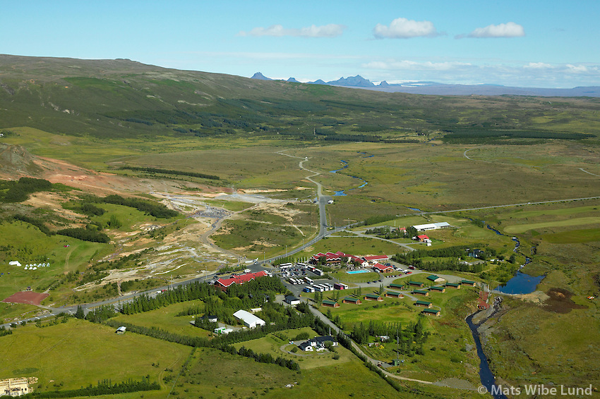 Geysir, Haukadalur, Biskupstungnahreppur, Bláskógabyggð séð til norðurs /.Geysir, Haukadalur viewing north.