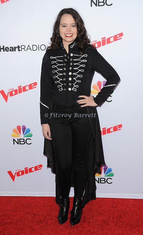 Hannah Kirby arriving NBC's The Voice Season 8 Red Carpet Event held at the Pacific Design Center Los Angeles CA. April 23, 2015