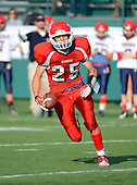Hornell Red Raiders varsity football against the Chenango Forks Blue Devils during the NYSPSHAA Central-Western Semi-Finals at Sahlen's Stadium on November 17, 2012 in Rochester, New York. Hornell defeated Chenango Forks 20-7. (Copyright Mike Janes Photography)