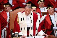 Giorgio Santacroce, primo presidente della Cassazione, durante la cerimonia di inaugurazione dell'anno giudiziario il 23 gennaio 2015.