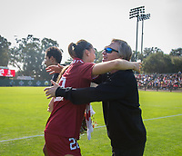 STANFORD, CA - October 21, 2018: Averie Collins at Laird Q. Cagan Stadium. No. 1 Stanford Cardinal defeated No. 15 Colorado Buffaloes 7-0 on Senior Day.